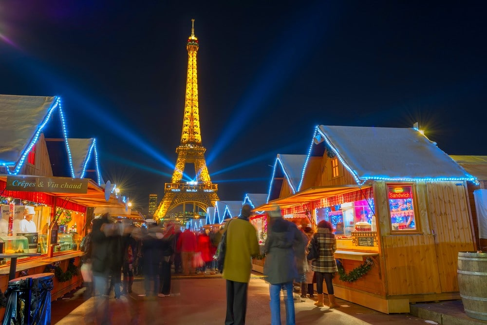 Christmas market in Paris 2017